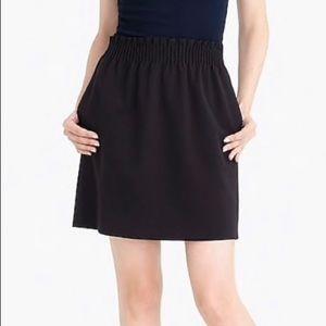 J. Crew Black Sidewalk Elastic Waist Skirt